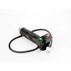 Ручка левая для электровелосипедов с кнопкой сигнала и поворотами универсальная